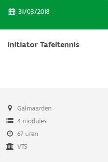 cursus initiator Galmaarden 2018