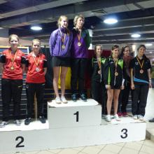 BK Tafeltennis Dubbel Dames C 2016 podium