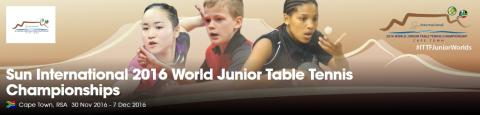 Sun International 2016 World Junior Table Tennis Championships